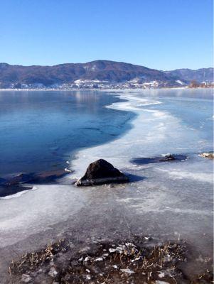 冬の諏訪湖_e0092612_1157555.jpg