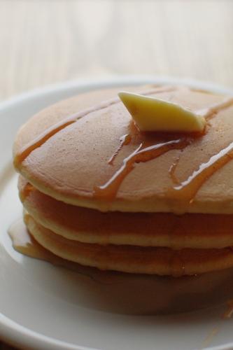 中力粉(シラネ)全粒粉で、いつものパンケーキ_c0110869_555331.jpg