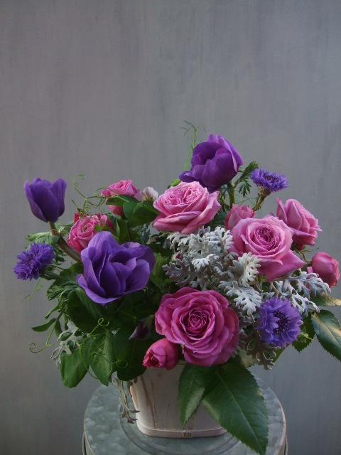 オークリーフ(薔薇とアネモネのアレンジメント)_f0049672_1648566.jpg