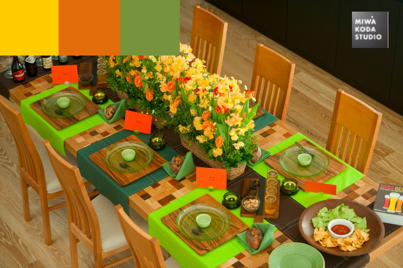 January 25, 2014 色のマジック:元気がでるテーブル  Color Magic: Cheer you up_a0307186_18475893.jpg