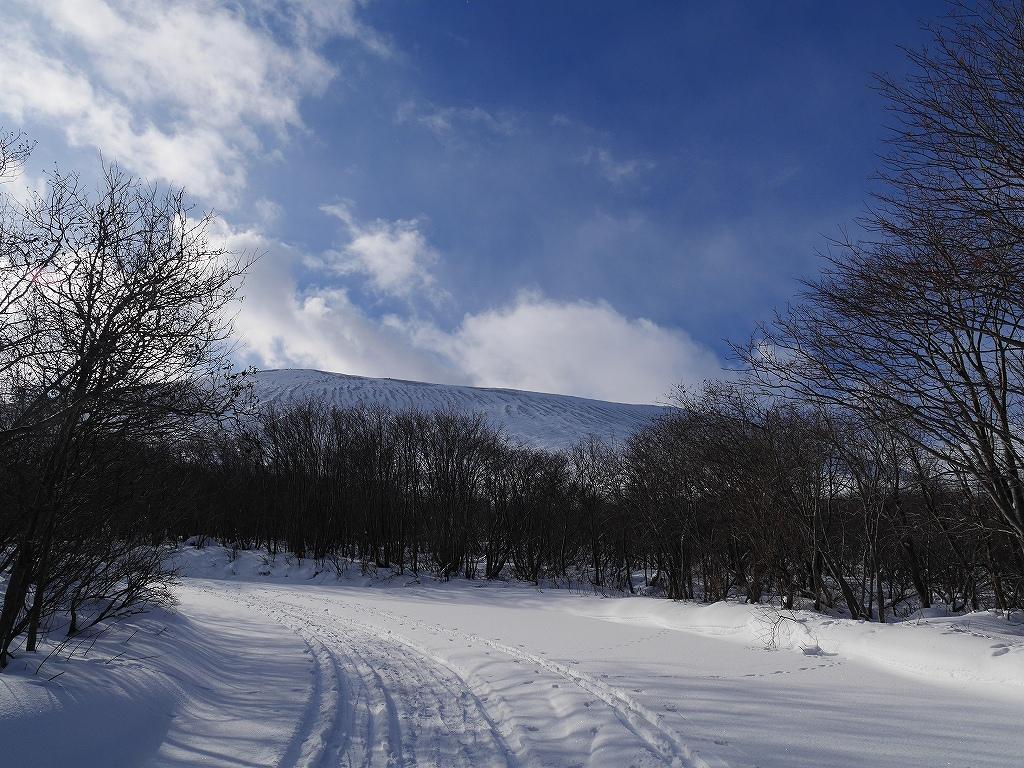 1月17日、スノーハイク?で樽前山_f0138096_8593119.jpg