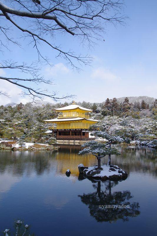 京都・冬の時・雪の金閣寺_a0157263_15204314.jpg