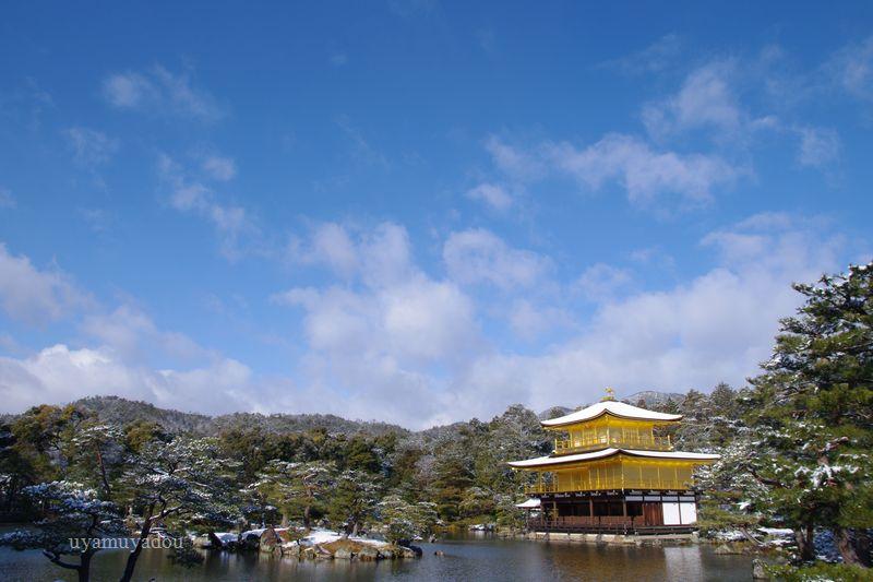 京都・冬の時・雪の金閣寺_a0157263_15204388.jpg