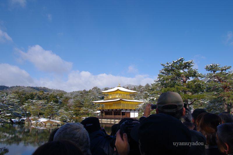 京都・冬の時・雪の金閣寺_a0157263_15373073.jpg