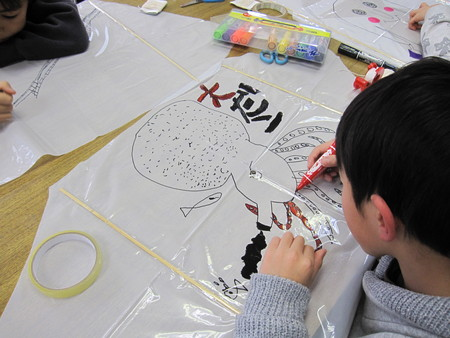 長尾教室 ~凧作り~_f0215199_19102850.jpg