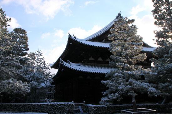 大徳寺金毛閣あたり 14雪けしき3_e0048413_9394376.jpg