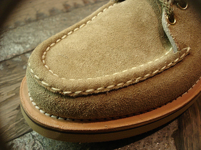 "NEW : RUSSELL MOCCASIN CO.[Premier Walking] & [Knock-A-Bout Boot with Strap] ""Laramie Suede\"" !!_a0132147_22512833.jpg"