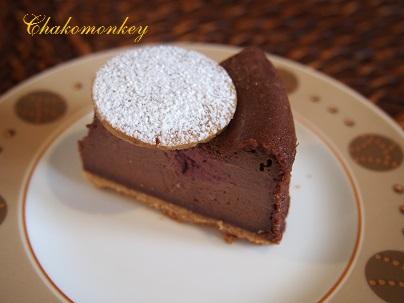 チョコレートチーズケーキを習う_f0238789_1912356.jpg