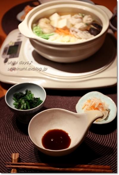 鶏と鶏団子鍋_f0179404_2203357.jpg