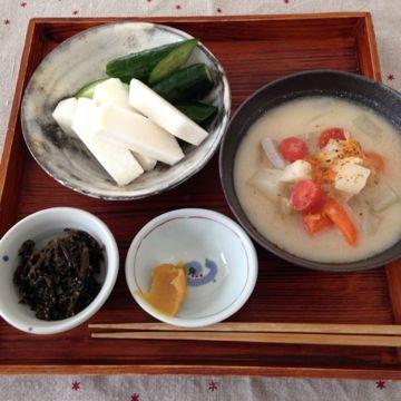 土佐の伝統野菜 弘岡かぶ 粕汁であったまる_e0134337_1805656.jpg