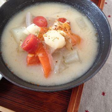土佐の伝統野菜 弘岡かぶ 粕汁であったまる_e0134337_1825172.jpg