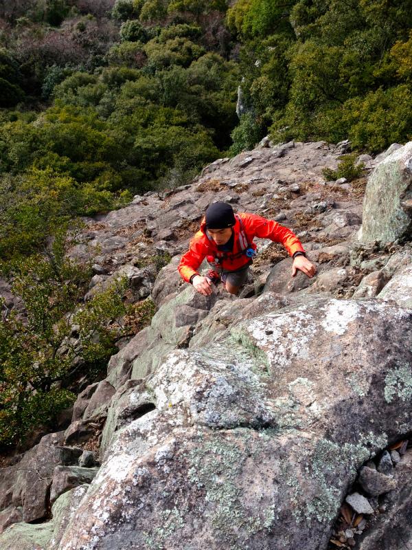 2014/01/16 Scrambling and Mountain Running in Shodoshima 小豆島_b0220886_15211531.jpg
