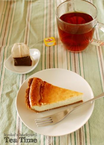 チーズケーキとリプトンの紅茶_b0253205_247078.jpg
