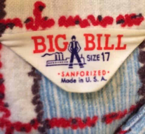 1/25(土)入荷!50年代 BIG BILL プリントネルシャツ!_c0144020_16552878.jpg