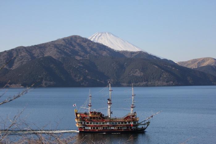 2014.1.24 ここにも冬鳥居ません・箱根芦ノ湖・イカル、コイカル、ツグミ、アオゲラ_c0269342_18252946.jpg