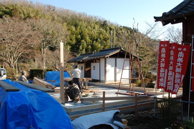 観音堂建立事業進捗状況_b0110585_1519347.jpg