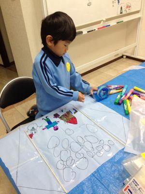 阿倍野教室 凧づくり_f0215199_11391355.jpg