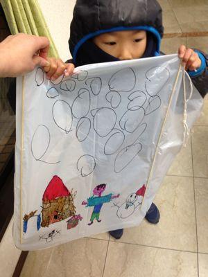 阿倍野教室 凧づくり_f0215199_11391439.jpg