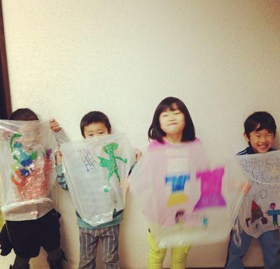 阿倍野教室 凧づくり_f0215199_11391719.jpg