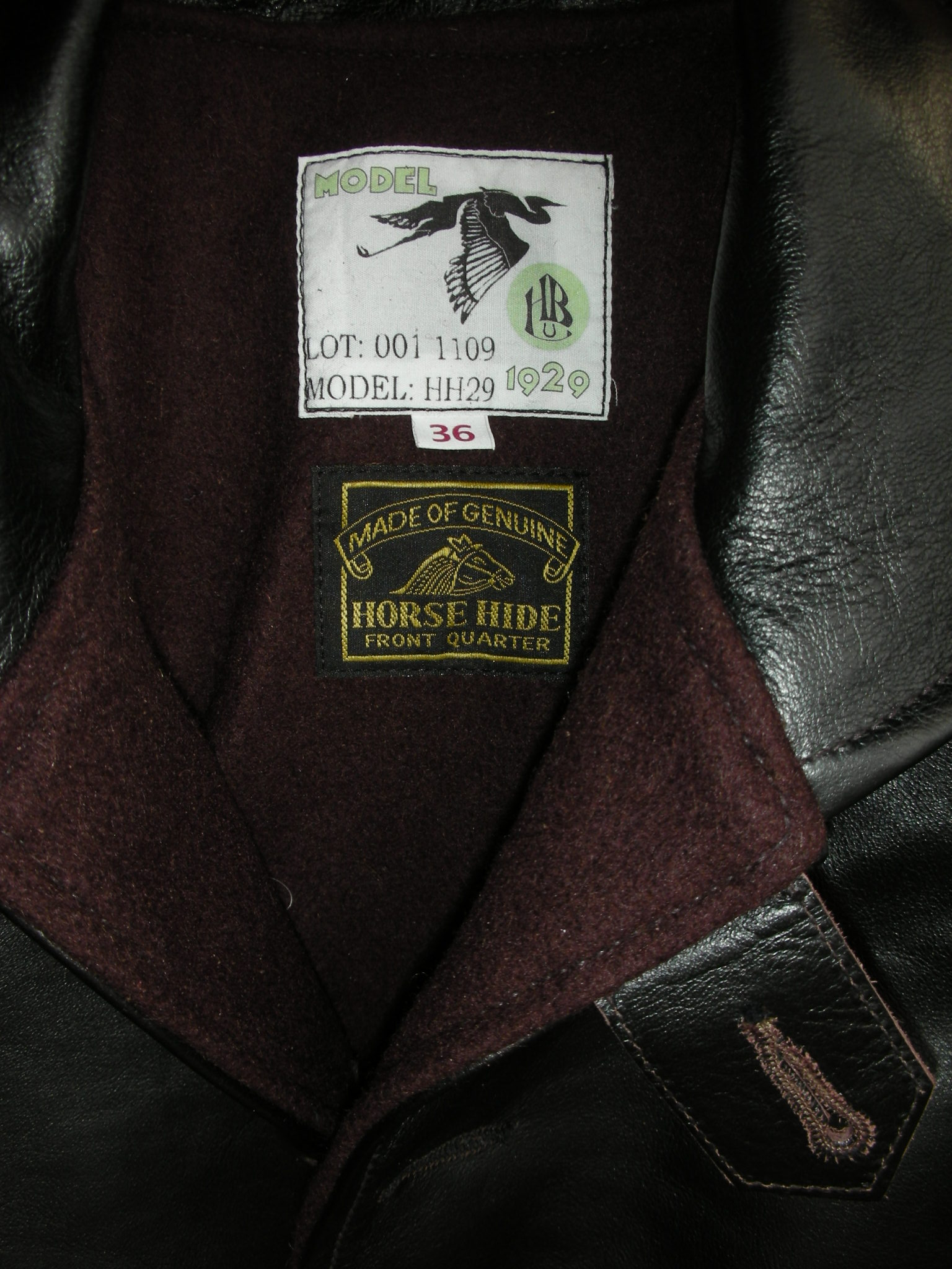 HIMEL BROTHERS LEATHER HERON 1929 BROWN WOOL LINNING _c0187684_16225268.jpg