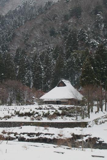 葛川かや葺きの家 14雪けしき9_e0048413_17514627.jpg