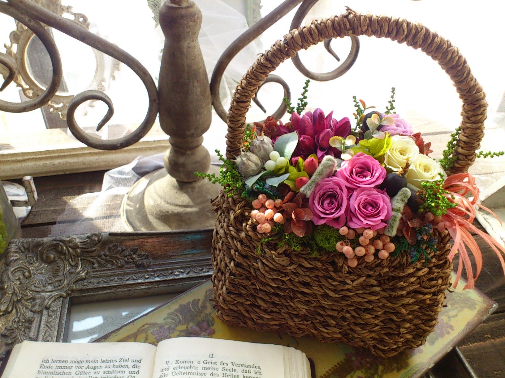 花かごアレンジ_e0128024_2362065.jpg