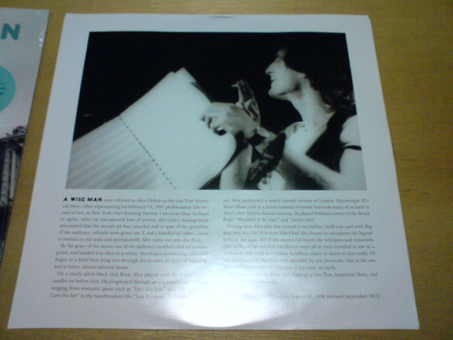 先週到着レコ 〜 Electricity By Candlelight/NYC 2/13/97 / Alex Chilton_c0104445_22515096.jpg