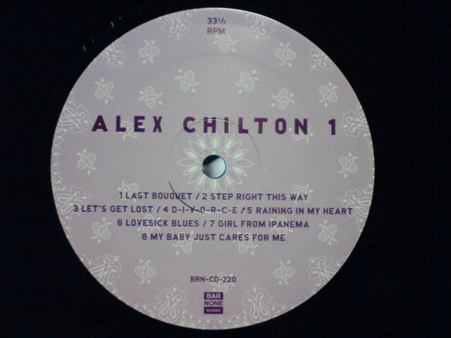 先週到着レコ 〜 Electricity By Candlelight/NYC 2/13/97 / Alex Chilton_c0104445_2253020.jpg