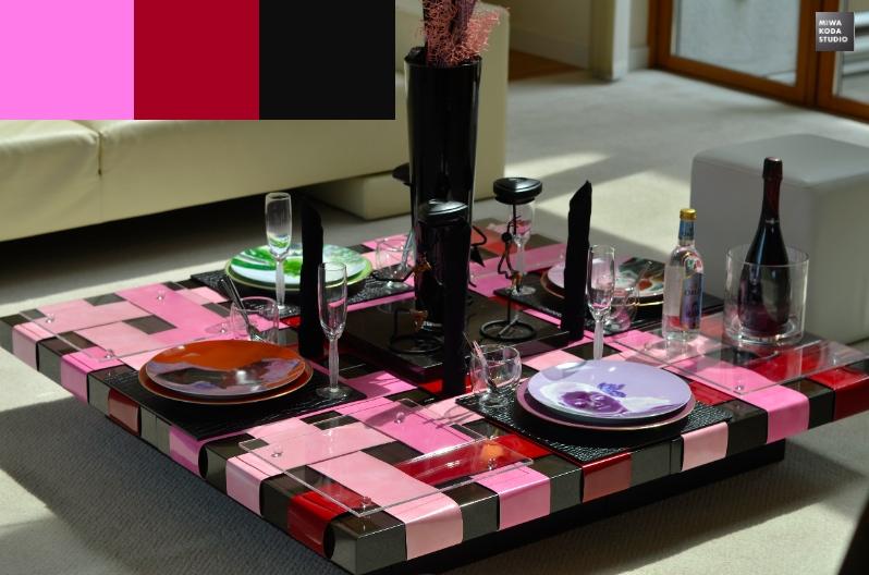 January 31, 2014 色のマジック:スタイリッシュなテーブル Stylish Table_a0307186_1326830.jpg