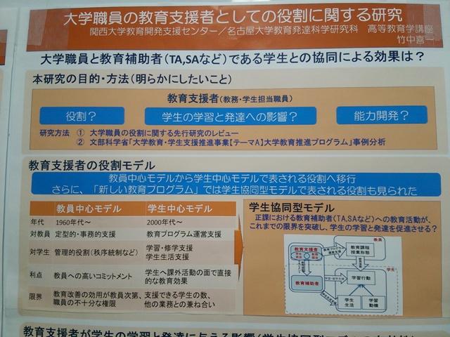 2014.1.25 第10回 関西大学FDフォーラムに参加_f0138645_6225381.jpg