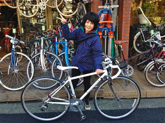 ☆今日のバイシクルガール5本立て☆ 自転車 女子 おしゃれ_b0212032_2215540.jpg
