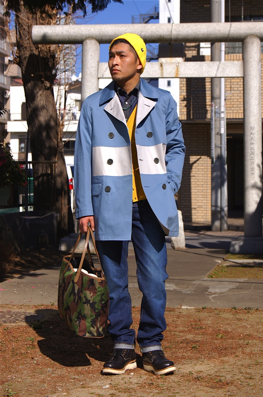 N.HOOLYWOOD - DOUBLE-BREASTED LINE COAT!!_f0020773_21443615.jpg