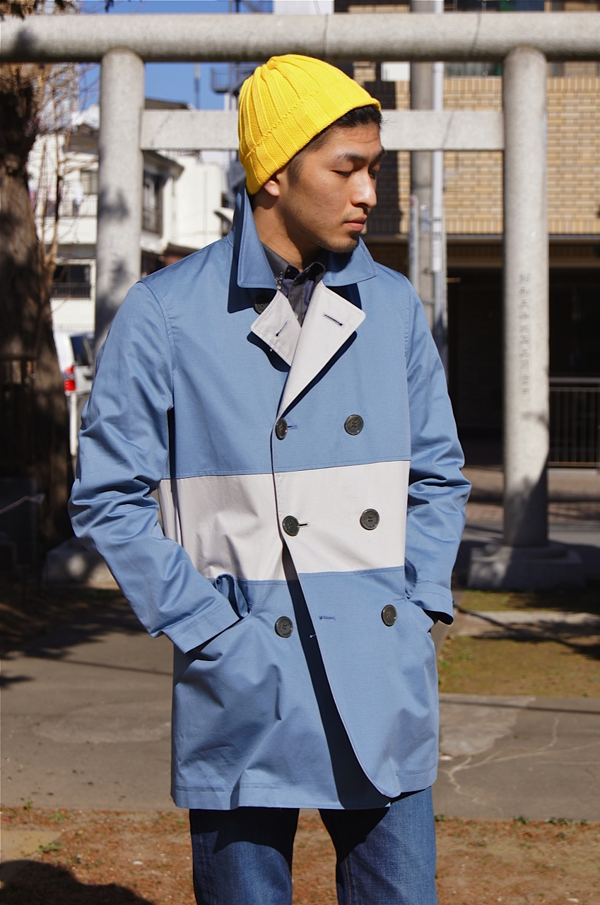N.HOOLYWOOD - DOUBLE-BREASTED LINE COAT!!_f0020773_21461831.jpg
