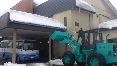 屋根の雪下ろし決行。_d0182179_17354451.jpg