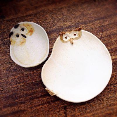 フクロウ皿