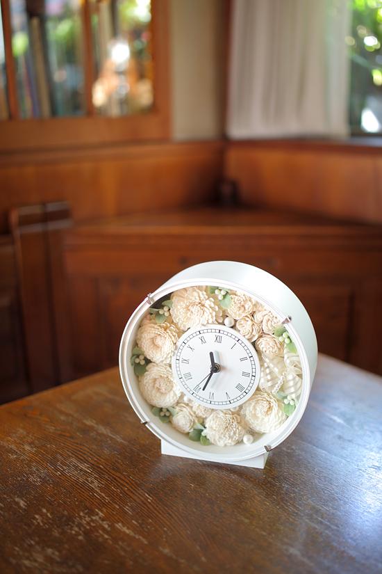 ウェディングギフトなどに最適!花時計を作りませんか。_e0143643_1641440.jpg