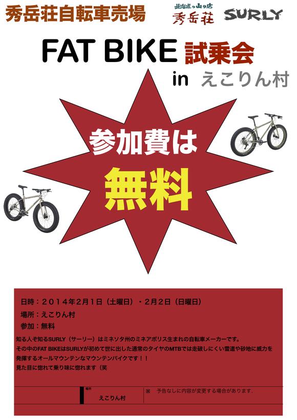 SURLY FAT BIKE試乗会inえこりん村_d0197762_11493080.jpg