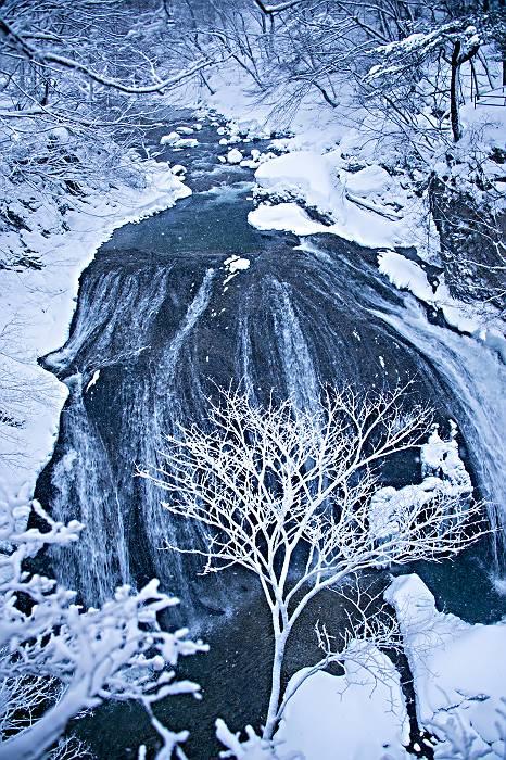 冬景色・・・・関山の大滝_e0271864_19175666.jpg
