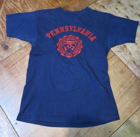 2月2日(日)入荷商品!IVY ペンシルバニア大学 フロッキープリントTシャツ!_c0144020_19191507.jpg