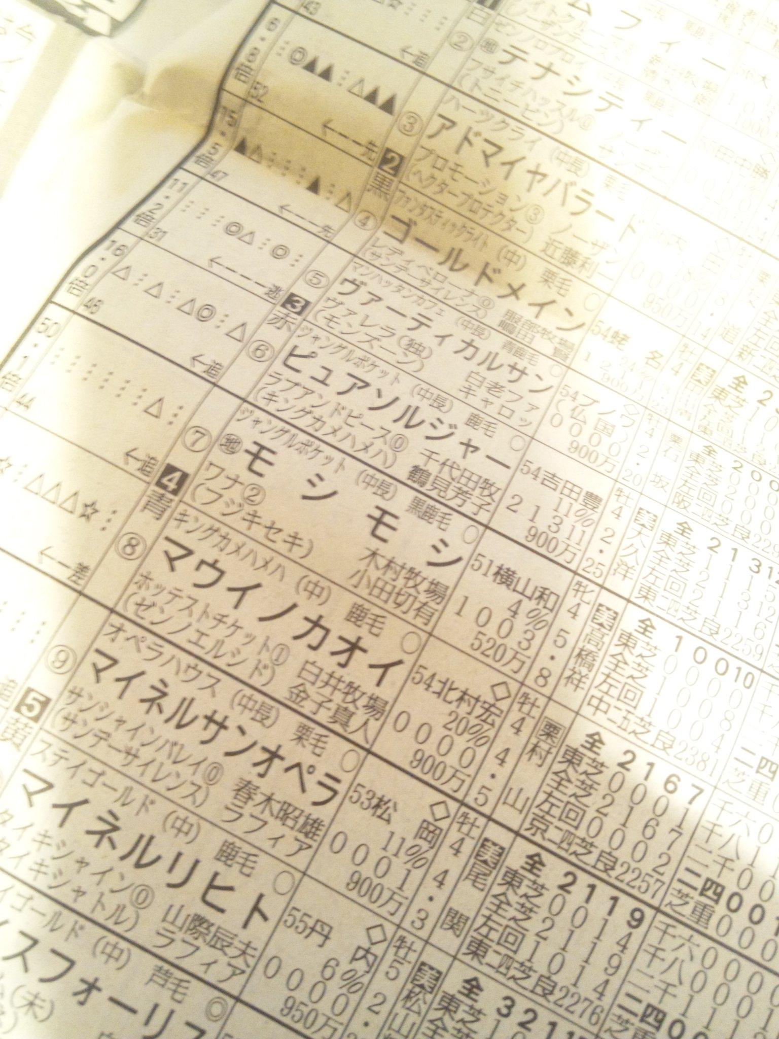 今日の東京9レース_c0001670_8255269.jpg