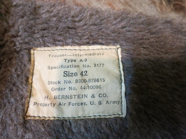 WWⅡ U.S.A.A.F    TYPE A-9 TROUSER !!_c0144020_13173077.jpg