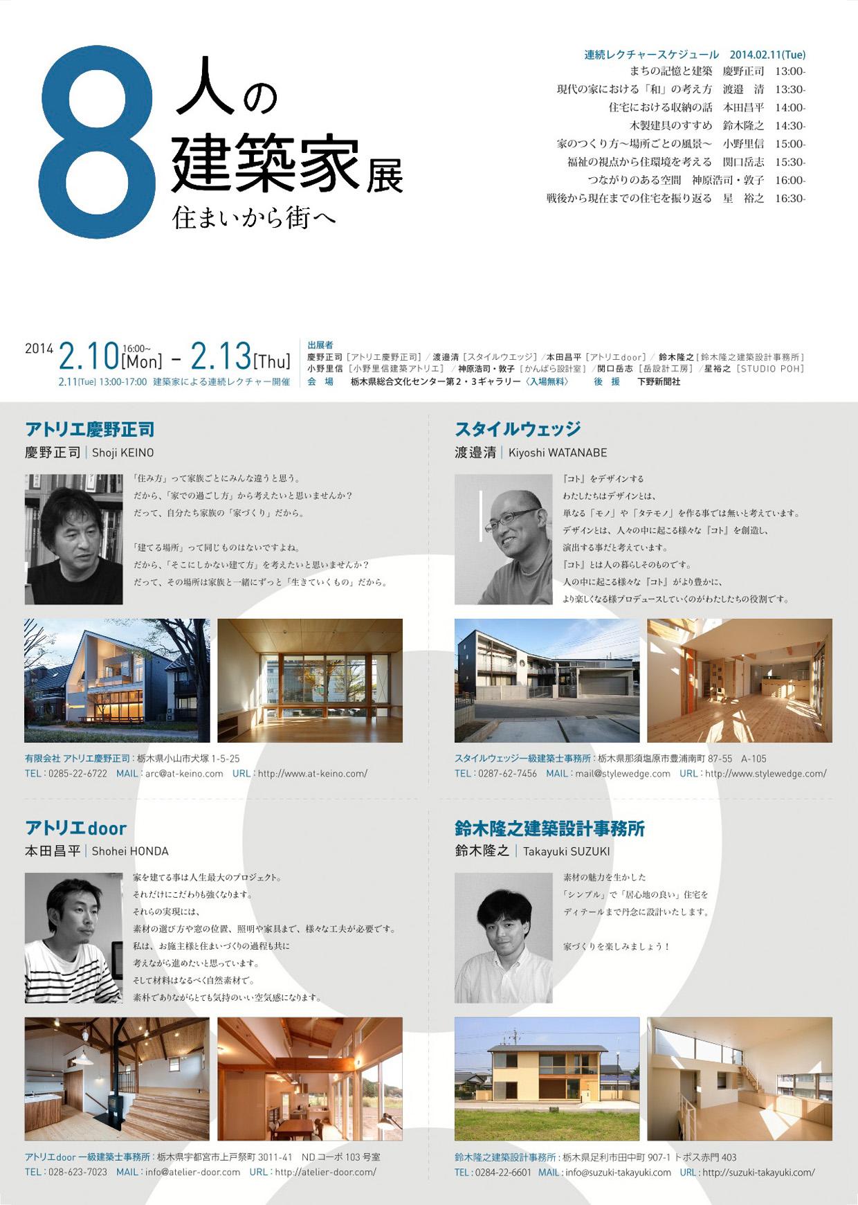 8人の建築家展 2014 〜宇都宮_e0127948_1610273.jpg