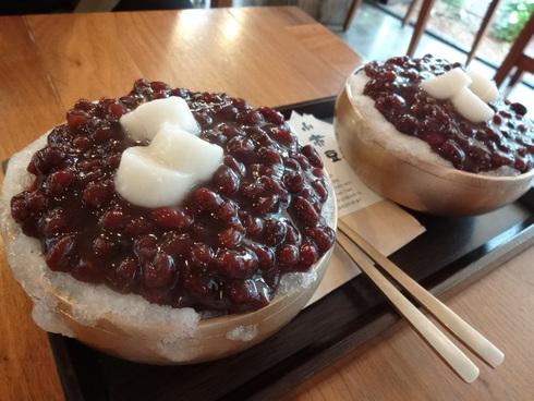 9月 ソウル旅行 その5 アックジョン「小赤豆」 ソジョクドで絶品パッピンス♪&嬉しい出会い_f0054260_1451434.jpg