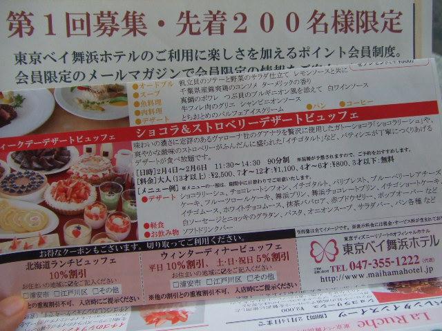 東京ベイ舞浜ホテル ファインテラス ショコラ&ストロベリーデザートビュッフェ_f0076001_21472049.jpg
