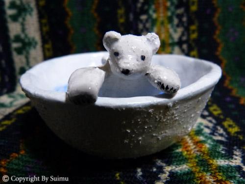 陶芸(オーブン)粘土のシロクマさん 1_d0154140_20061605.jpg