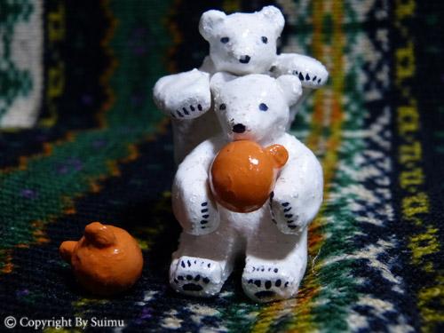 陶芸(オーブン)粘土のシロクマさん 1_d0154140_20063295.jpg
