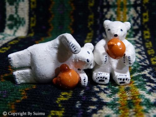 陶芸(オーブン)粘土のシロクマさん 1_d0154140_20064308.jpg
