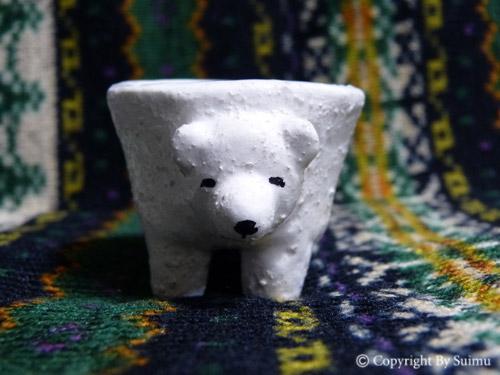 陶芸(オーブン)粘土のシロクマさん 3_d0154140_20283233.jpg