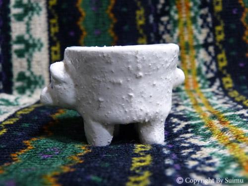 陶芸(オーブン)粘土のシロクマさん 3_d0154140_20290057.jpg