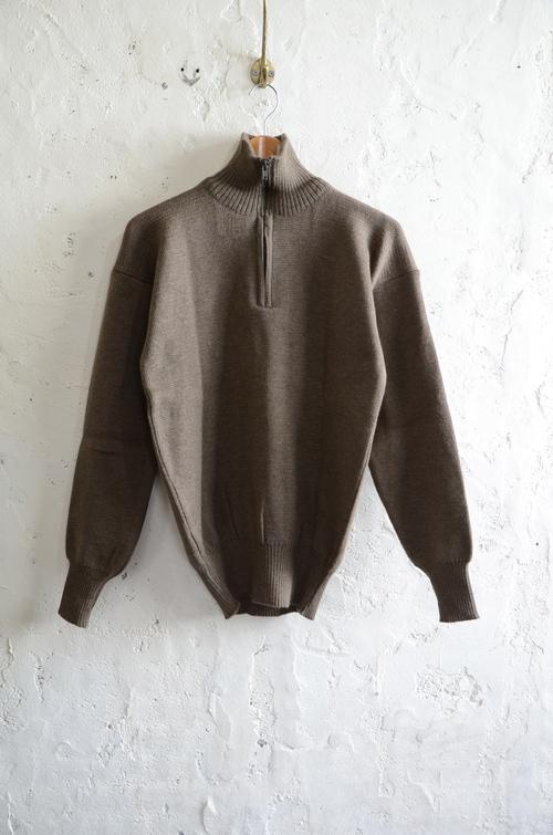 Italian army half zip knit dead stock_f0226051_13103327.jpg